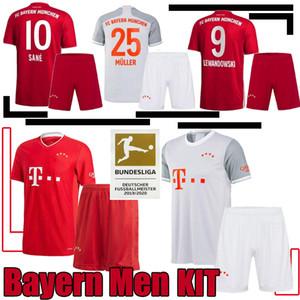 20 21 Bayern Munich GNABRY Davies Soccer Jerseys 2020 LEWANDOWSKI MULLER KIMMICH HERNANDEZ Men Kit 20 21 VIDAL Football set uniform