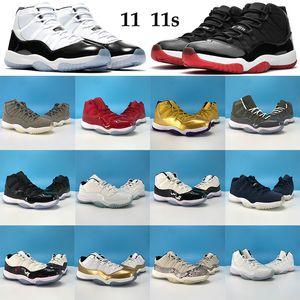 고품질 11 개 11S Jumpman 남성 여성 농구 신발 (45) (23) 낮은 전설 블루 트레이너는 82 감마 블루 스니커즈처럼 승리 사육 콩코드