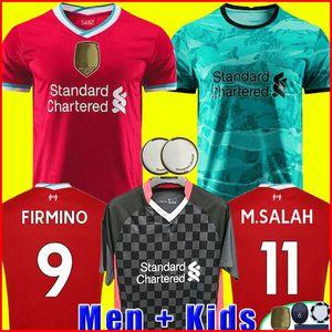 20 21 Camiseta de fútbol del Liverpool 2020 2021 chandal M. SALAH VIRGIL MANE FIRMINO THIAGO DIOGO JOTA J. niño campeones porteros hombres + kit para niños de la soccer jersey