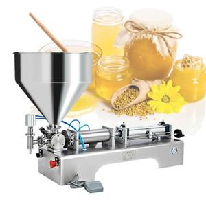 Einfügen Yogurt jam Gel Einkopf- Paste Füllstoff halbautomatische Einkopf- quantitative Füllmaschine Maschine Kolben Befüllen
