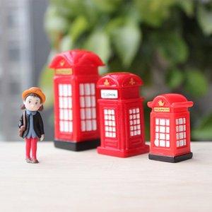 BAIUFOR Миниатюрные Mini Телефонная будка Почтовый автобус Модель Террариум Статуэтки Fairy Garden Accessories Home Decor Doll House игрушки