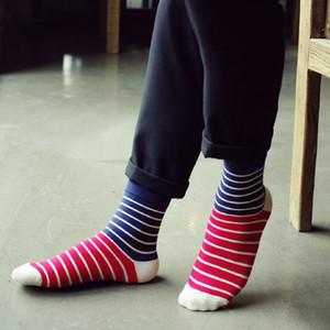 20200921 couleur de style New hommes chaussettes à rayures en automne et en hiver
