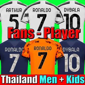 Fans Player version soccer jersey football shirts 20 21 Men + Kids kit sets uniform 2020 2021