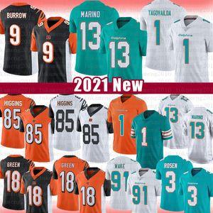 13 Dan Marino 9 Joe Madriguera Cincinnati Bengals Jersey Miami Dolphins Tua Tagovailoa 18 A. J. Verde 85 T Higgins 91 Cameron Wake 3 Josh Rosen