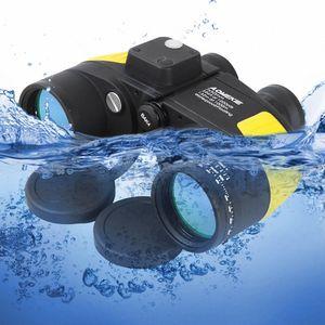 Hot AOMEKIE 7X50 Binoculars Rangefinder Compass Hunting Boating Marine Telescope HD BAK4 Prism Folating Nitrogen Waterproof yKQ8#