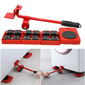 5Pcs Furniture Moving Heavy Hand Tool set Furniture Lifter Mover for Sofa Bed Cabinet Wheel Bar + Mover Roller Transport