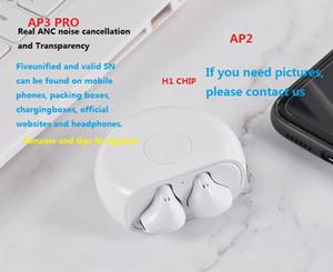 Lo nuevo chip de h1 Aire AP3 ANC cancelación de ruido auriculares bluetooth Transparencia tws SN válido sensores ópticos del metal vainas bisagra AP2 pro 3ª