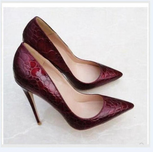 Real photo Fashion Women Nude Black red Patent Leather Footwear Women Pumps for Wedding Pointed Orange Sexy High Heels Shoes 12cm stilettos
