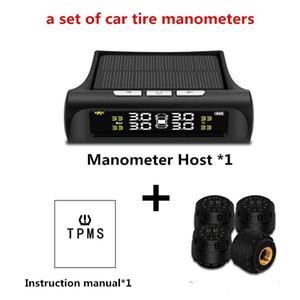 태양 전원 자동차 타이어 압력 검출기 TPMS 자동차 무선 타이어 압력 모니터 시스템 외부 센서 자동 타이어 경보 감지기 USB Charg