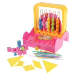 5 в одном Math Обучающие игрушки Abacus Counting Стик Rod Геометрическая обучения Твердая часы Kid Math Номер обучения игрушки