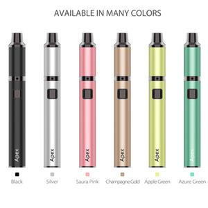 Новые Аутентичные Yocan Apex Vape Kit 650mAh Аккумулятор Испаритель Ручка с нагревательными 510 нитка Box Mod Concentrate Кварц Dual Coil 6 цветов