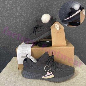 2020 meilleure qualité Cinder Asriel Soufre Kanye West Hommes Femmes Chaussures de course Desert Sage Tail Lumière Abez réfléchissant Formateurs Chaussures de sport avec la boule