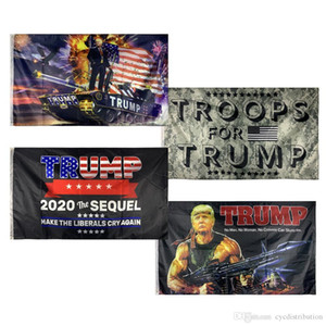 Trump Flags Trump Flag 3x5 ft Cheap Polyester Printing 2020 American Election Support Flag Banner Train Tank Rambo Women Wholesale