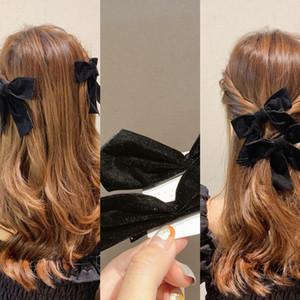81a90 Meninas Rabo Furry Scrunchies cabelo bowknot Anel mantilha Elastic Fur Faux Hairband Sólidos cabelo corda Titular Fluffy Acessórios de cabelo