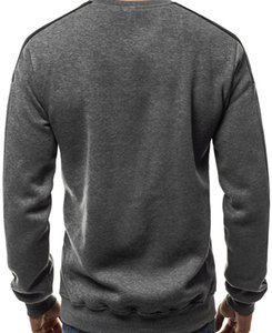 mens designerEuropean size large fleece arm color matching personalized sports sweater55