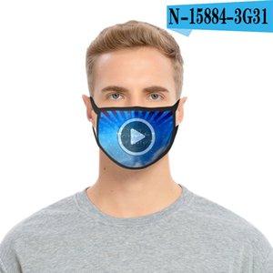 Día 3d estadounidense Independen nosotros Flag 36styles Fa máscara máscaras a prueba de polvo Wasale Mout Er Fasion de protección 1000pcs Gga3511 Jake
