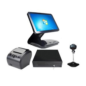 Monitors 15.6 Inch Touch Screen System For Retailers All In One Cash Drawer Printer J1900 ComPOSxb Machine