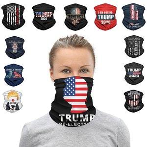 2020 Trump Triangle magique écharpe président américain Trump Élection Bandana multifonctionnel Sport Vélo Tubular Couvre-chef Masques visage w-00231