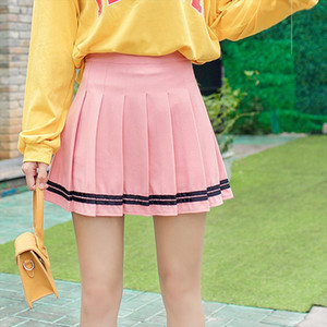 Plus Size Harajuku Short Skirt New Korean Patchwork Skirt Women High Waist School Girl Pleated Patchwork Skirt Sexy Mini