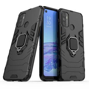 Pour OPPO A53 Case Bague luxe coloré mince autocollant en plastique dur de couverture de cas TPU pour OPPO A53