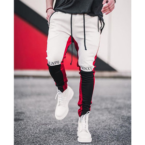 casual pants Men Autumn and winter new Outdoor casual pants Elasticity Splicing Slim pants Fitness Sweatpants Europe and America Streetwear