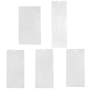 Plastic Semi-transparent Stencil Plastic Quilting Template for Embroidery Patchwork DIY Sewing Craft Tools - 40x20cm