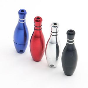 Mni pipe bottiglia di bowling del tubo del metallo pallottola portatile di stile di pipe Metel filtro fumare sigaretta Pipe Tobacco tubo LSK1128