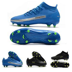 NK Phantoms Football Bottes GT Elite FG Chaussures Daybreak Elite Pack Low Noir Academy dynamique Fits Noir Rose souffle Royal Blue Football Crampons