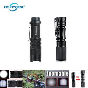 Flashlights Torches LED Penlight Torch Ultra Bright Zoomable Mini Waterproof Pocket Focus Lamp For Camping Hiking Cycling Lighting