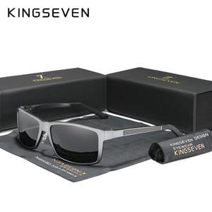 KINGSEVEN 2.020 hombres de las gafas de sol polarizadas de conducción de magnesio y aluminio espejo Eyewear para los hombres / mujeres UV400 Oculos