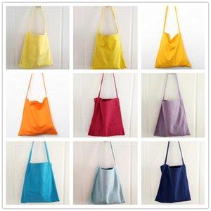 Ecology Natural Cotton Handbag Teenager Female Reusable Eco Farbic Big Capacity Casual Daily Diaper Soft Slouch Shoulder Bag