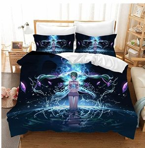 Hot Sale Hatsune Miku 3d Bedding Set Duvet Cover Set Pillowcase Twin Full Queen King Bed Linens AU EUR USA Size Drop Shipping