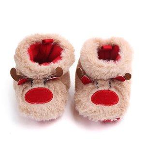 Newborn Toddler Infant Girl Winter Baby Girls Keep Warm Shoes Christmas Deer Elk First Walkers Anti-slip Footwear Shoes