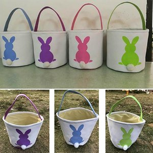DIY Easter Baskets Egg Bunny Bags Rabbit Ear Storage Bags Hangbags Totes 23*25cm DHL SHIP XD20161