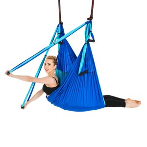 Anti-Gravity Yoga Swing Aerial Flying Swing Gym Hammock Anti-Gravity 6 Hand Grip Hanging Chair Ultra Strong Sling Pilates