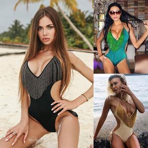 Swimsuit Luxury Designer Bikini Jumpsuits mulheres Fancy Clothes Designer Mulheres Swimsuit Tassel One Piece