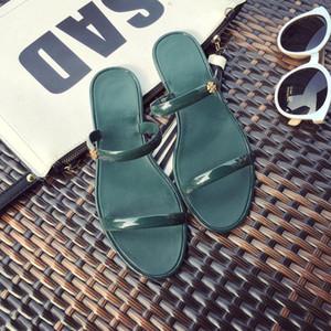 Hot Sale-Mulher Chinelo Início Outdoor Moda de Nova estudante coreano anti-derrapante sapatos Seaside Student Praia refrigeram Jelly Shoe Zapatos de mujer PVC