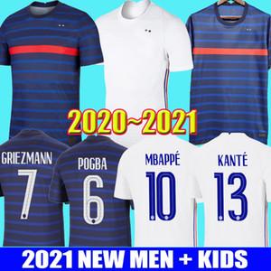 2021 유로 2020 프랑스 MBAPPE GRIEZMANN POGBA 20 21 축구 유니폼 축구 유니폼 FEKIR PAVARD 축구 셔츠 키트 남성 어린이 남성 키즈 유니폼