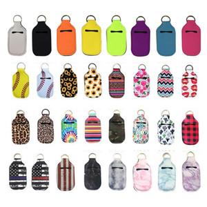 En stock!!! Porte-bouteille porte-clés Sacs à main Sanitizer Porte-clés Bouteille Porte-savon pour les mains en néoprène 10 * 6cm gratuit DHL