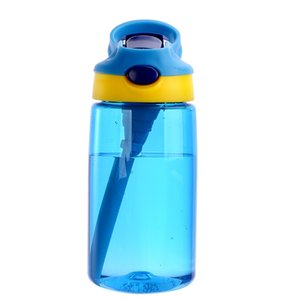 Sports Water Bottle With Straw Children Kids Portable Large Capacity Food Grade Man Woman Plastic Space Cup Pure Color 16dy Bb 15pcs