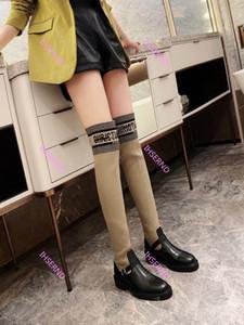 Dior 2020Top Женщина колена сапоги натуральная кожа сапоги осень / зима моды сапоги обувь высокого качества вскользь ботинки размер 35-41