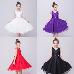 Celebración del cordón del vestido de noche de la princesa dulce fiesta de noche vestido de los niños vestido de regalo de aniversario celebración Gvxsw