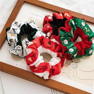 2020 Merry Christmas Women Hair Accesorios Ladies Hair Tie Scrunchies velvet Ponytail Hair Female Girl Holder Rope