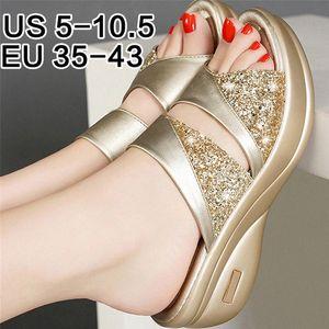 Summer Shoes Woman Platform Sandals Ladies Gladiator Sandals Women Bling Wedage Shoes Woman High Heels Sandalias Mujer r7T1#