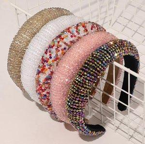 Fasce di capelli di cristallo dei cerchi di lusso lucido imbottito diamante fascia donne Copricapo Matrimonio Copricapo Design Ragazze Accessori per capelli capelli EWC2123