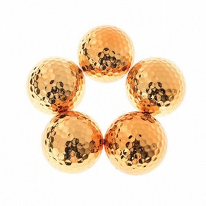 1Pc 2Pcs High quality Fancy Match Opening Goal Best Gift Durable Construction for Sporting Events New Plated Golf ball WL0c#