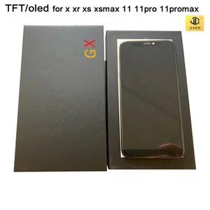 LCD TFT Top OLED para iphone x xr xs xsmax 11 11Pro 11promax Tela 3D digitador Toque Assembléia Preto Color 100% testado
