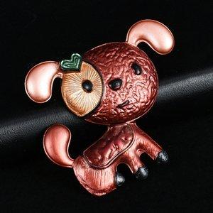 Broş Yeni Tasarım Köpek Broş Moda Mavi Emaye Alaşım Metal Pins Takı Giyim Dekorasyon Çocuk Kız Sevimli Pet Brooches