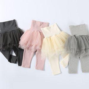 Pamuk Pantolon Fall Bebek Kız Çocuklar 5 katmanları Tül Etek Skinny Tozluklar Bebek Balo Parti Tozluklar Çocuk Giyim