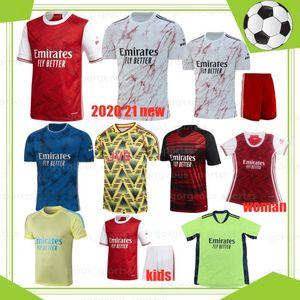 20 21 hommes enfants ensembles d'uniformes kits de football arsen jersey de football 19 20 21 Tierney Henry Guendouzi Chemise de football Tops de football